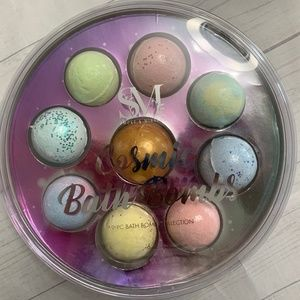 Bath Bombs 9pc Glitter Gold Swirl Gift Set